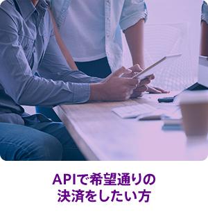 APIで希望通りの決済をしたい方