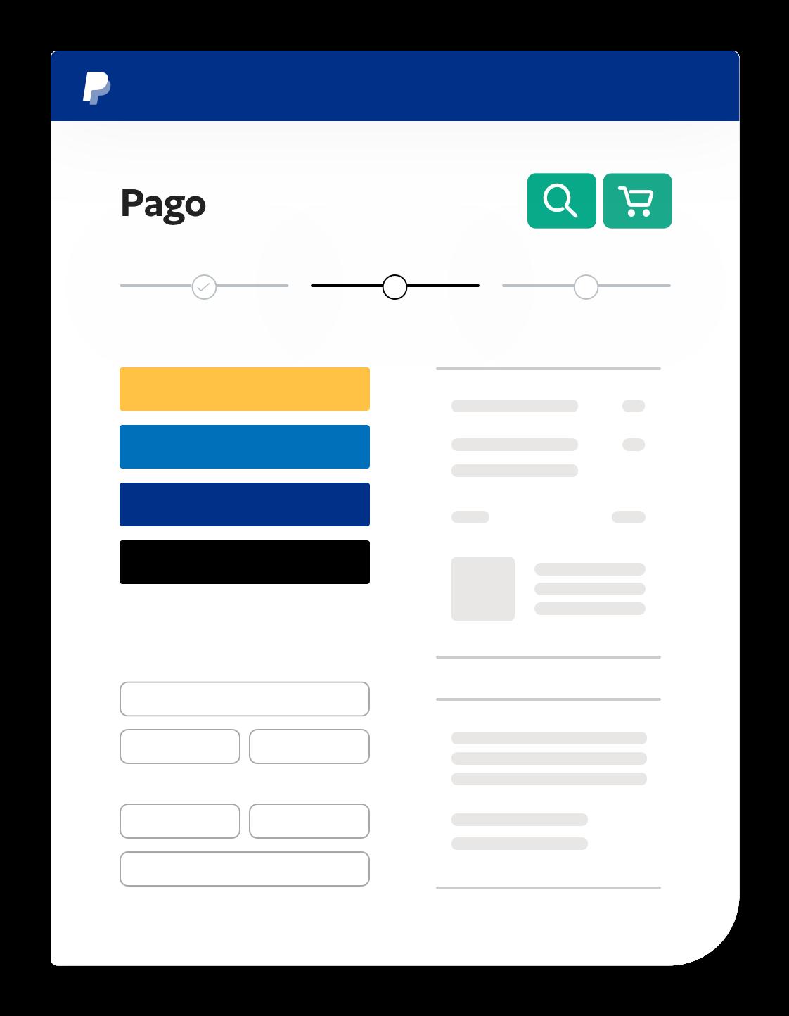 Captura de pantalla del proceso de pago.
