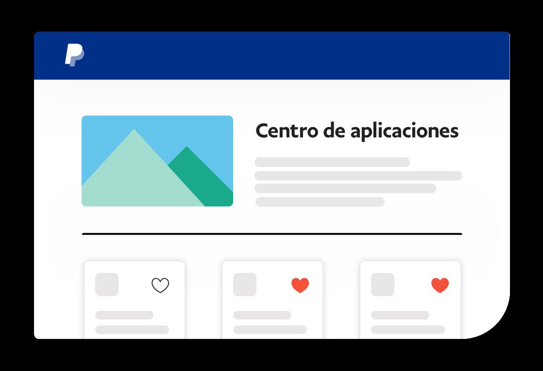 Captura de pantalla del centro de aplicaciones.