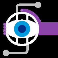 Dessin d'une main violette entourant un globe avec un œil bleu au centre.