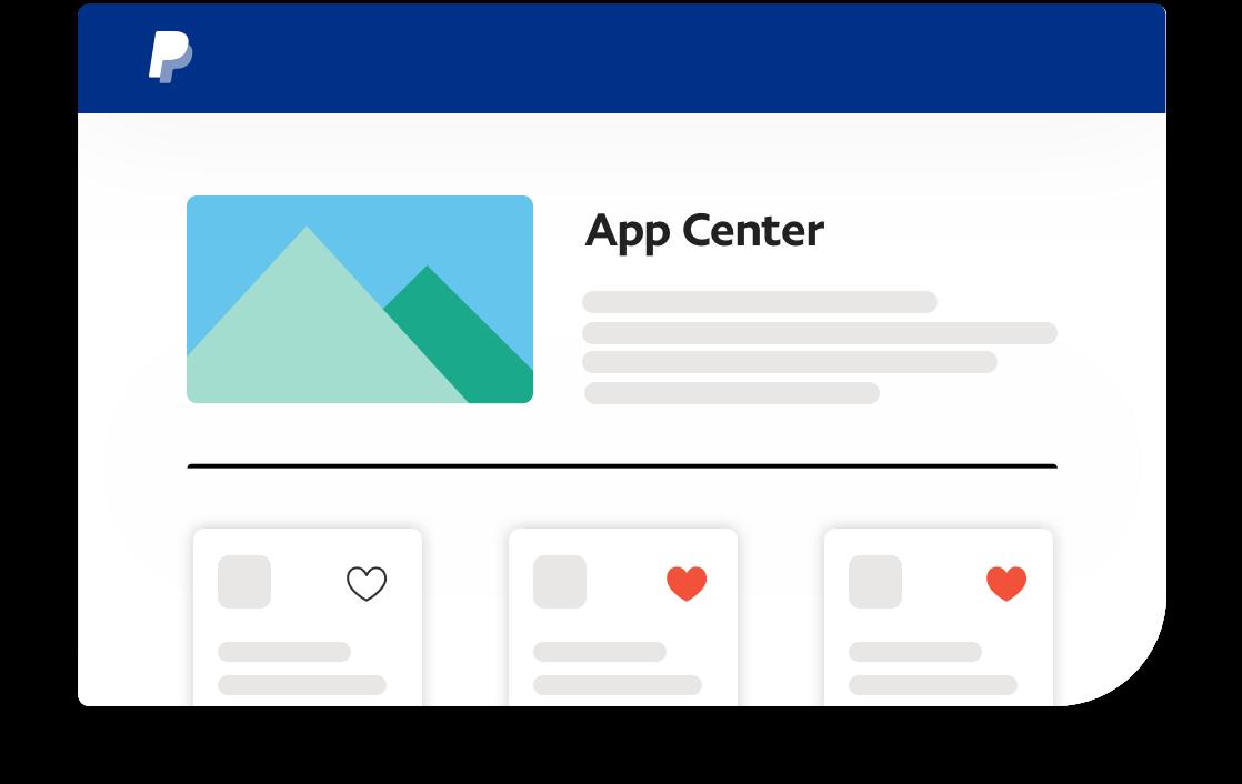 Skärmbild av App Center.