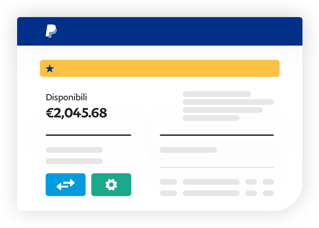 Screenshot dell'app che mostra il denaro disponibile.