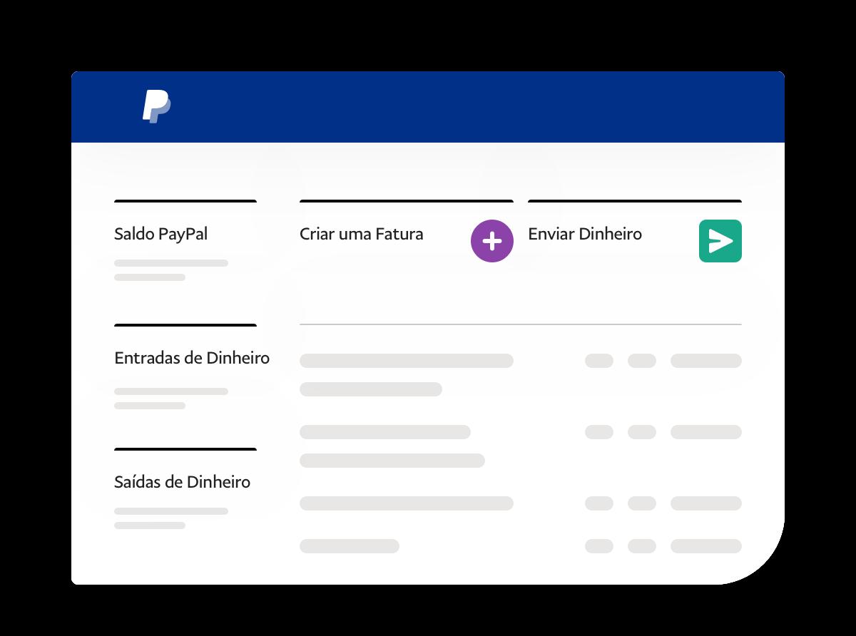 Captura de ecrã da App mostrando o saldo, os movimentos de conta e links.