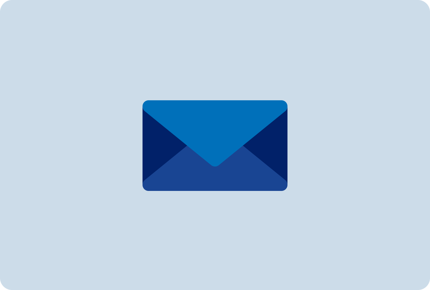 A blue envelope icon represents how you can quickly sign up for a PayPal Business account with just an email address