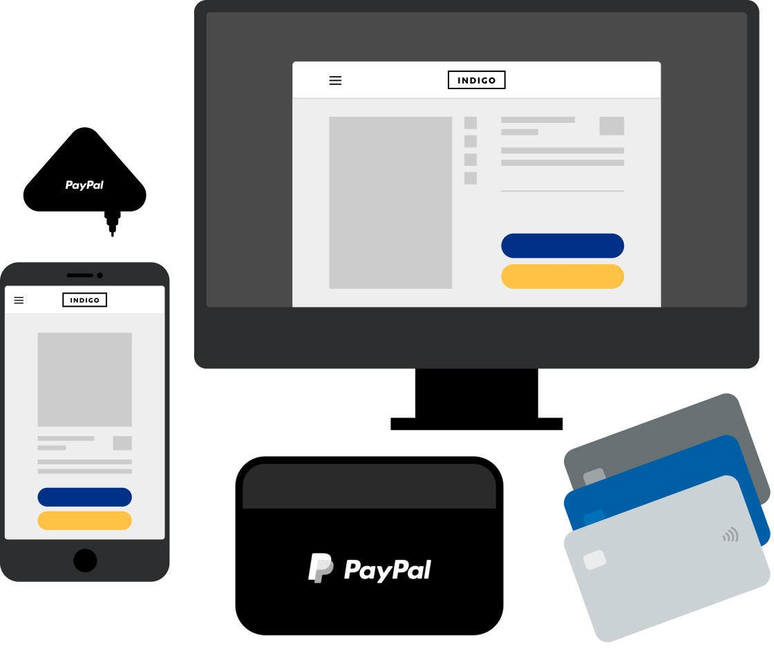 An illustration of PayPal point of sale system solutions