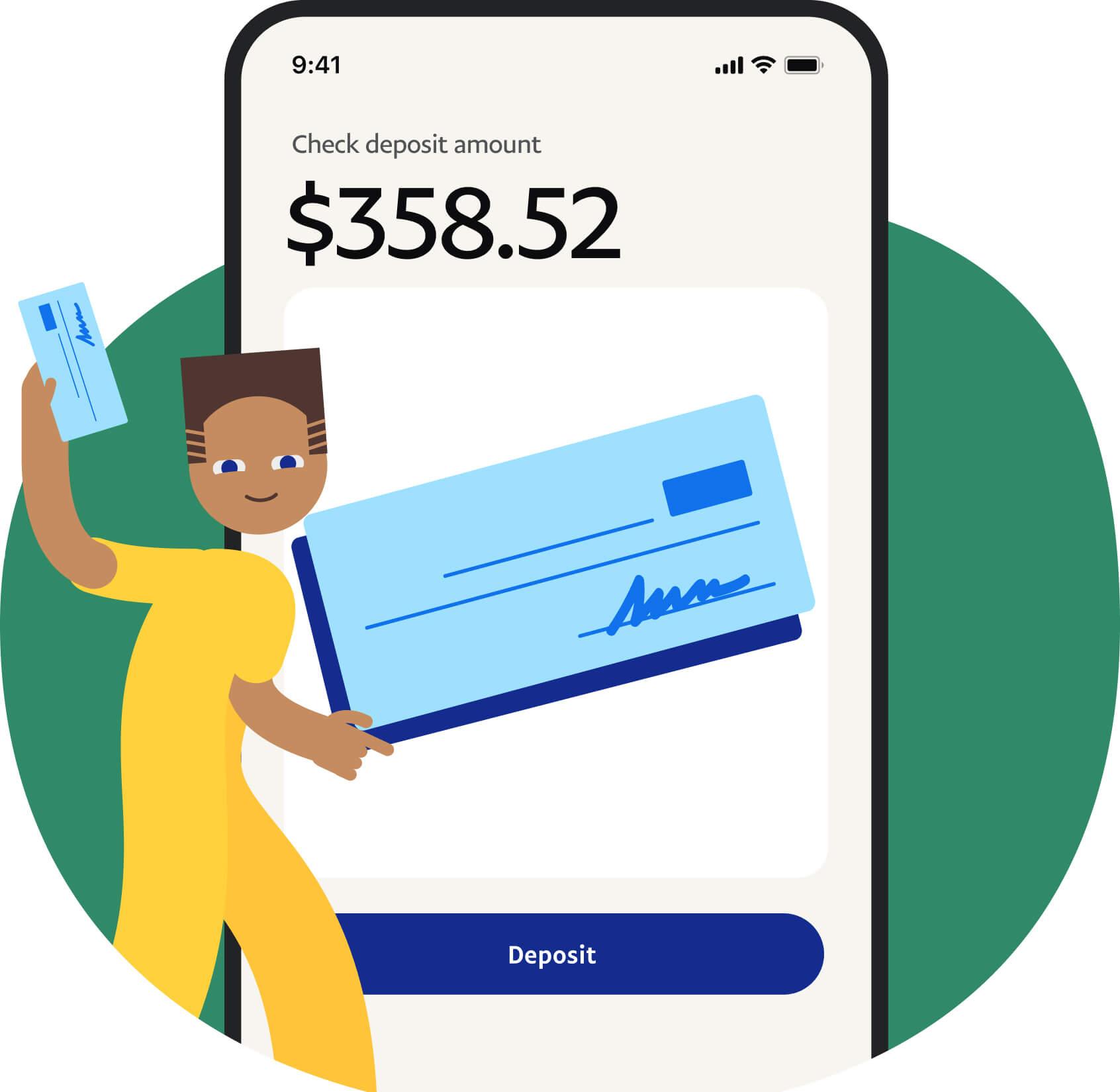 PayPal Check deposit amount