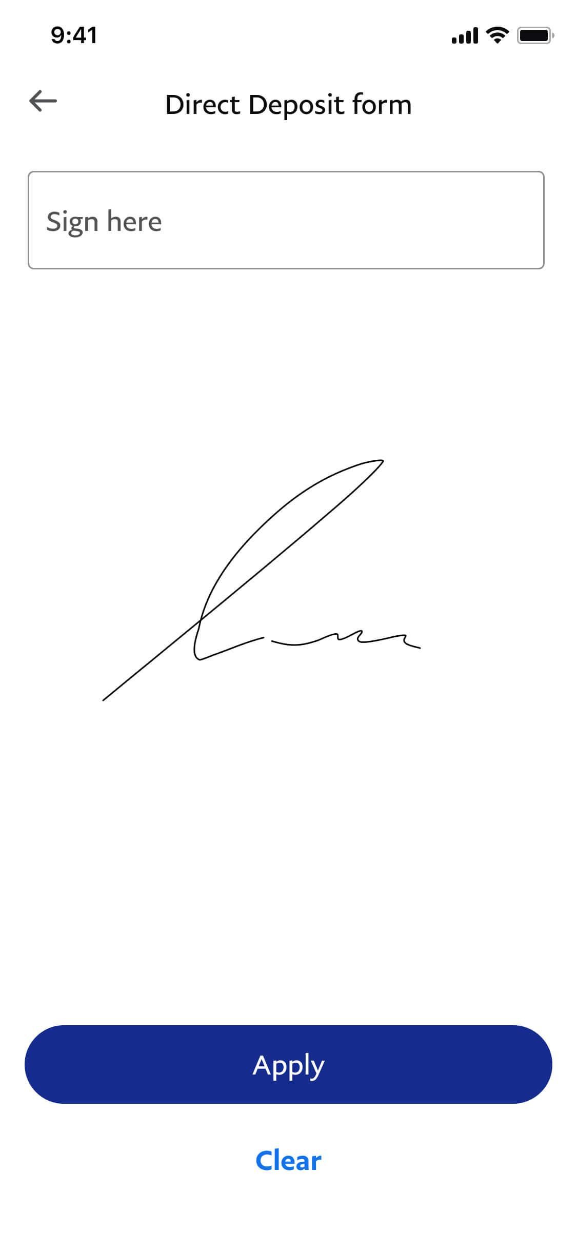 Add your e-Signature