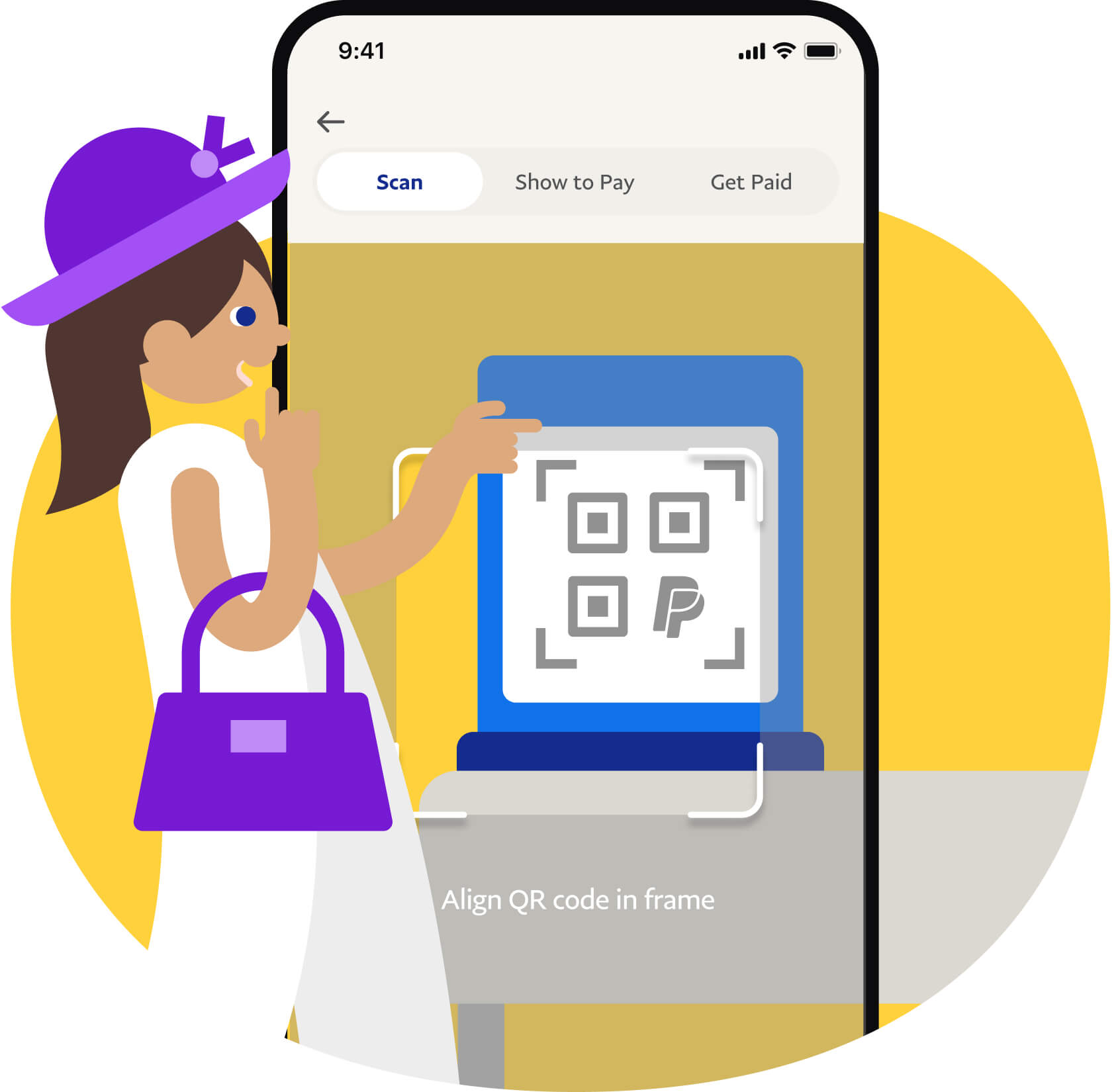PayPal Pay with QR code on Phone