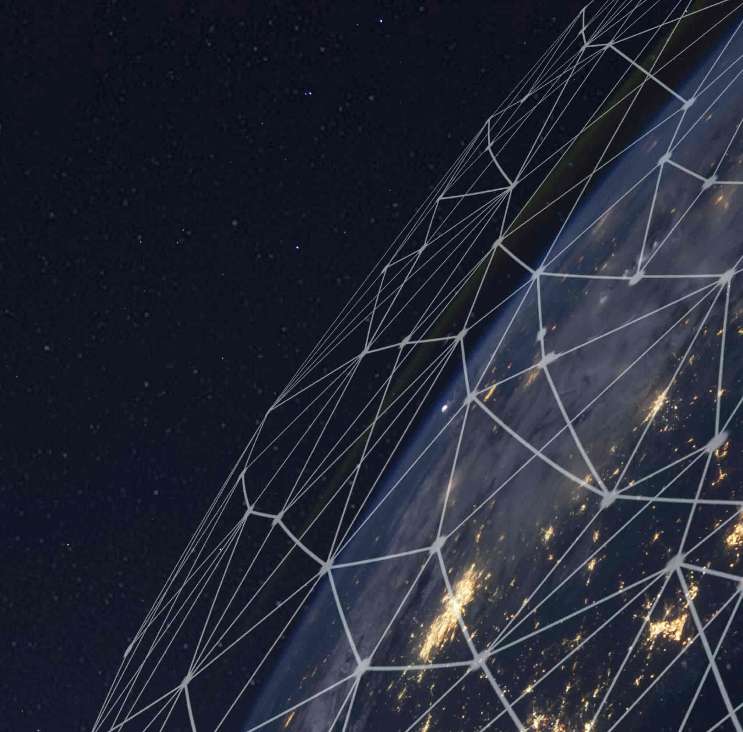 Viele Linien, die den Globus überziehen, stehen für das riesige Volumen an Transaktionen, die über das PayPal-Netzwerk abgewickelt werden