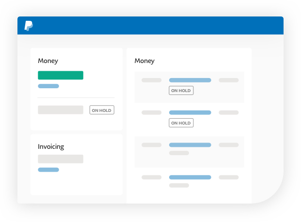 PayPal account overview