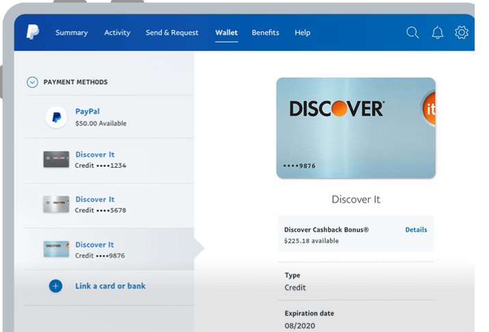 Use Discover Card Points Discover & PayPal PayPal US