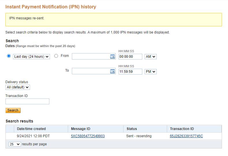 IPN resend check