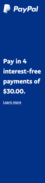 Pay later messaging flex 1x4 blue