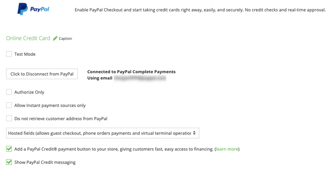 Shift4Shop credit messaging