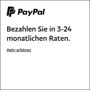 A square flex message for a Pay Later offer with black text and logo on a white background