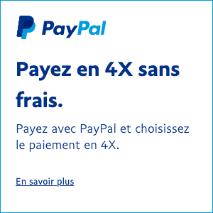 French Pay Later messaging flex 1x1 white