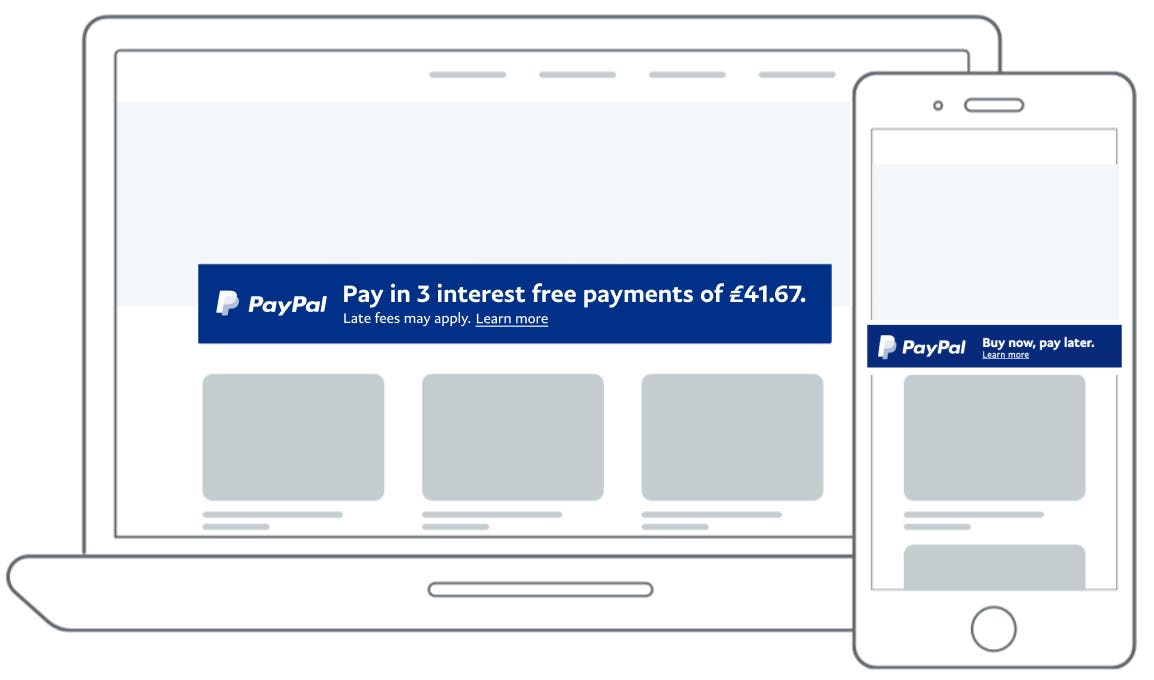British Pay Later messaging image