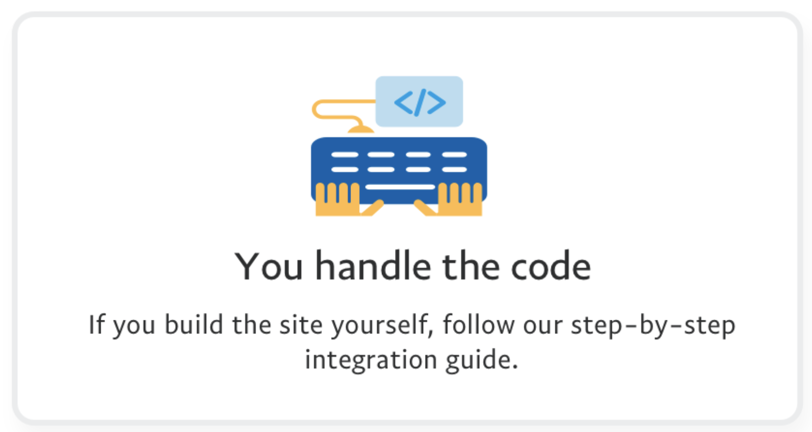 You handle the code