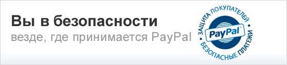 Вы в безопасности везде, где принимается PayPal