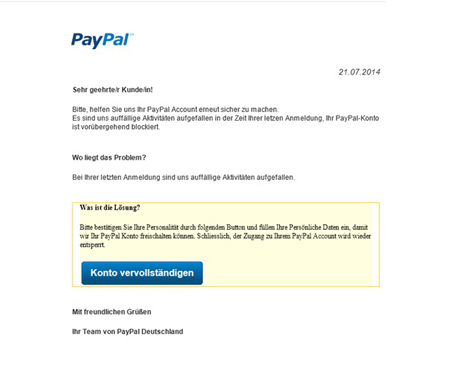 paypal kundenservice mail