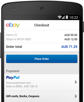 How do i pay with paypal on ebay