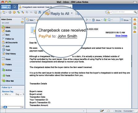 Chargeback Notice