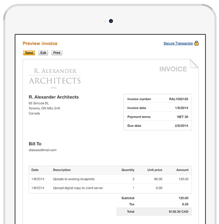 Online Invoicing Create And Send Invoices Via Email PayPal Canada - Create and send invoices