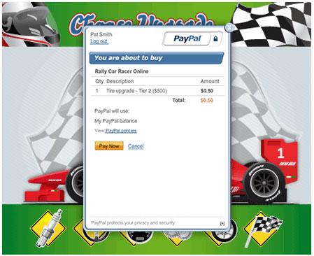 rally car racer make payment