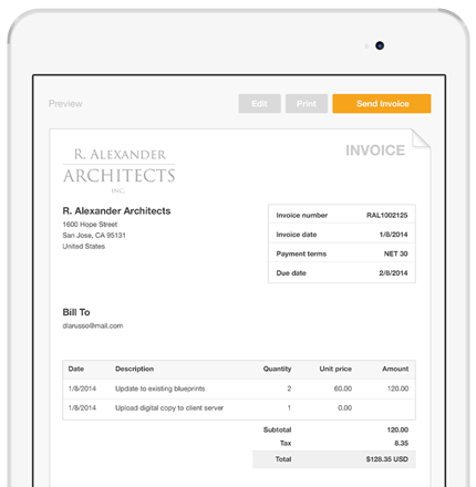Elegant Create And Send Invoices Via Email   PayPal On How To Send Invoices