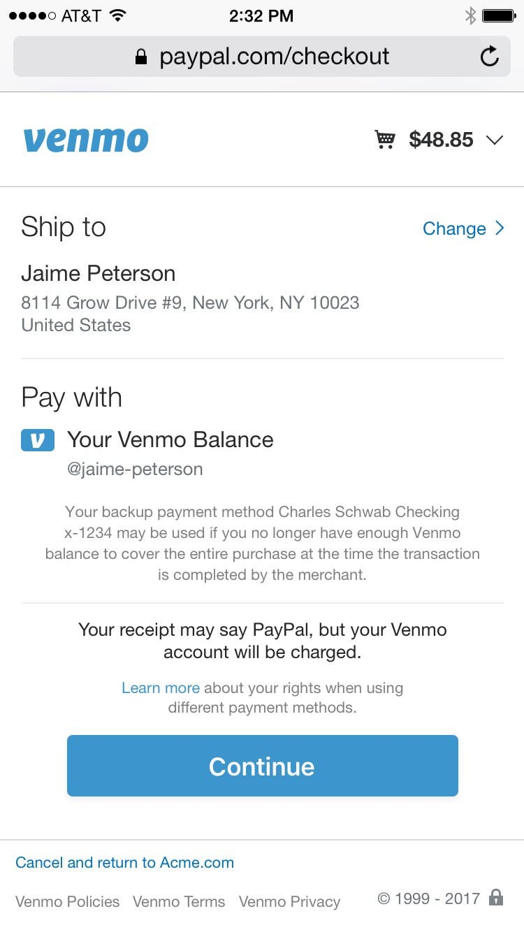 Venmo payments