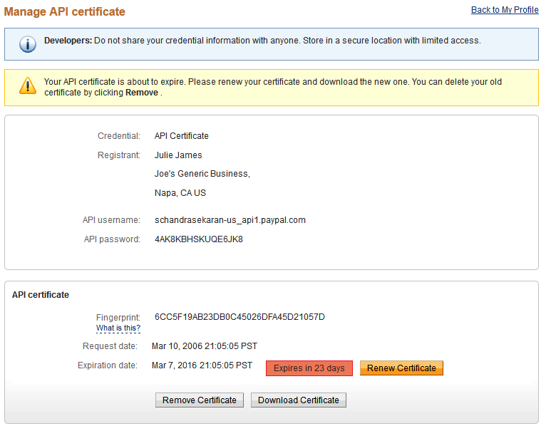 Certificate is expiring
