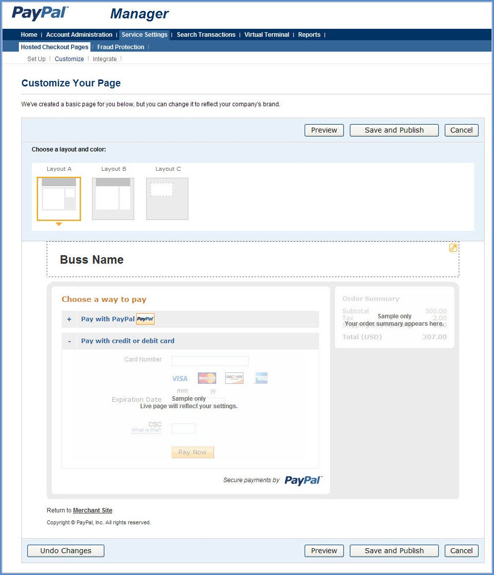 Payflow gateway developer guide and reference paypal developer customize biocorpaavc Choice Image