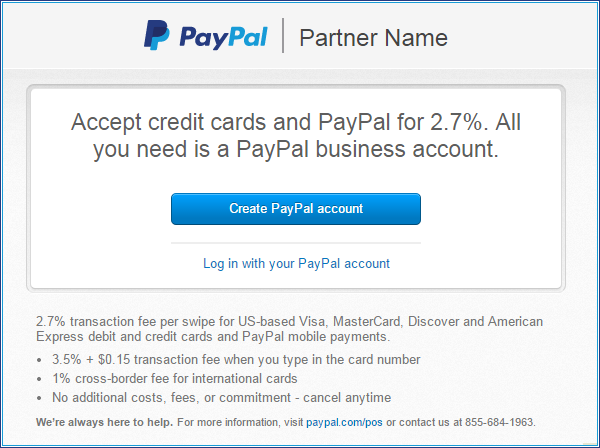 creat pay pal account