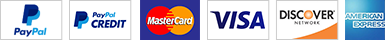 PayPal Credit Card Badges