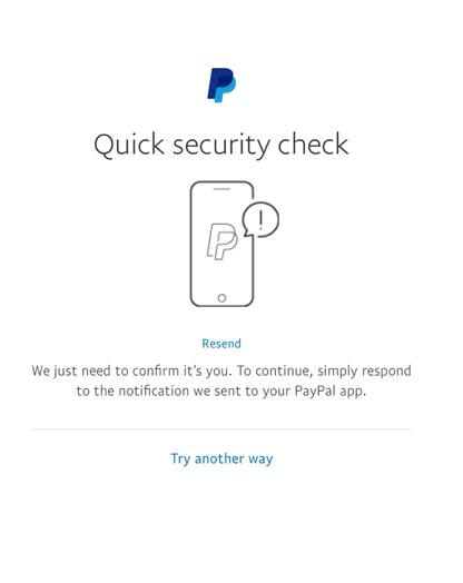 mobile security check screen