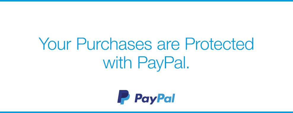 Your Purchases are Protected with PayPal