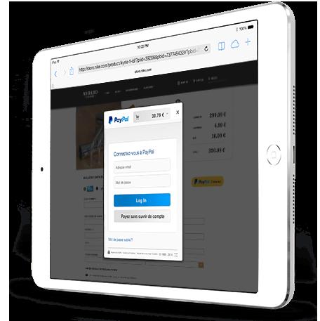 PayPal pour régler vos achats avec votre compte