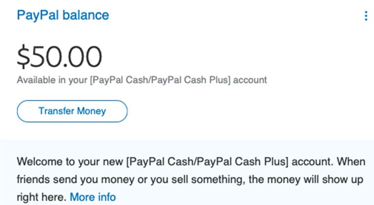 Policy updates and user agreement changes to Personal PayPal accounts