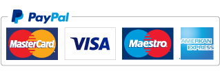Debit or Credit Card processed by Paypal