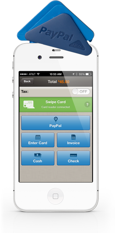 credit card swiper for iphone paypal here credit card reader point of and mobile 16844