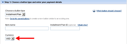 paypal how to set defualt payment type