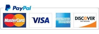 credit cards & PayPal acceptance mark