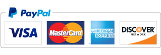 All major credit cards accepted via Paypal