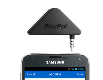 PayPal credit card reader