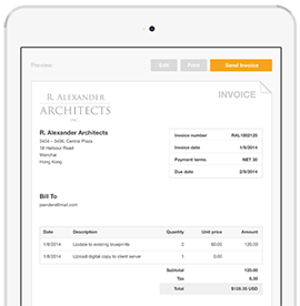 If you don't have a website | Save invoices as a template